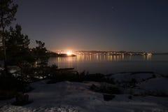 Stad i natten Royaltyfria Foton