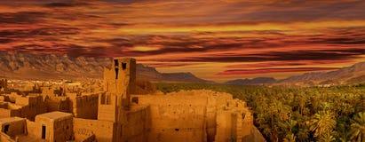Stad i norden av Afrika, Marocko fotografering för bildbyråer