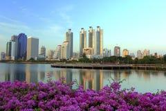 Stad i trädgården i Thailand Royaltyfria Bilder