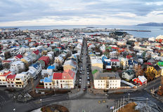 stad iceland reykjavik Arkivbilder
