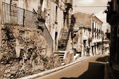 stad italy gammala ragusa sicily arkivbild