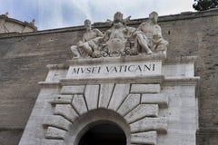 stad italy vatican Juni 2017 Ingång till Vaticanenmuseet D Royaltyfri Bild