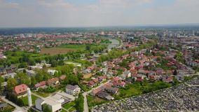 Stad Karlovac, Kroatië stock footage