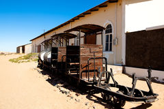 Stad Kolmanskop in Namibië Stock Afbeeldingen