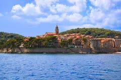 Stad Korcula in Kroatië royalty-vrije stock afbeeldingen