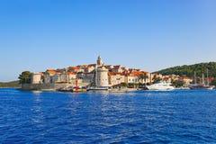 Stad Korcula in Kroatië stock afbeelding