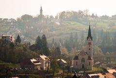 Stad Krapina, Kroatien Arkivbild