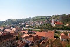 Stad Krapina, Kroatien Royaltyfri Fotografi