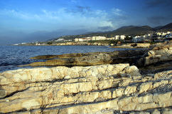 Stad in Kreta Stock Foto's