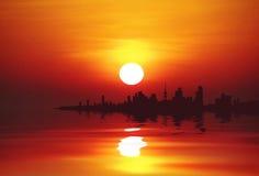 stad kuwait Fotografering för Bildbyråer