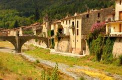 Stad in Languedoc Rousillon Royalty-vrije Stock Afbeeldingen