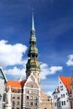 stad latvia gammala riga Royaltyfri Bild