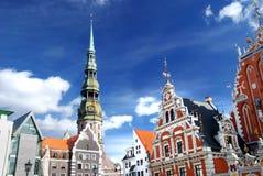 stad latvia gammala riga Arkivbild