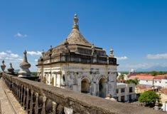 stad leon nicaragua royaltyfri foto
