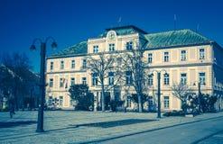 Stad Liptovsky Mikulas, Slovakien Arkivfoton