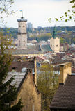 stad lviv ukraine arkivbilder