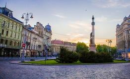 stad lviv ukraine Royaltyfria Foton