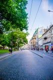 stad lviv ukraine Royaltyfri Fotografi