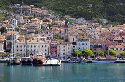 Stad Makarska Arkivbild