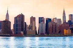stad manhattan New York USA Fotografering för Bildbyråer