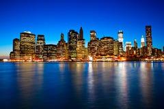 stad manhattan nya USA york Fotografering för Bildbyråer
