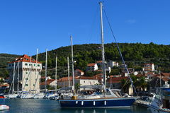 Stad Marina Croatia Arkivfoto
