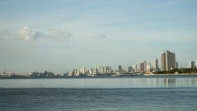 Stad med skyskrapor och byggnader Filippinerna Manila, Makati arkivfoton