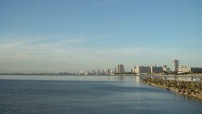 Stad med skyskrapor och byggnader Filippinerna Manila, Makati arkivbild