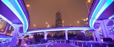 stad mega shanghai Arkivbild