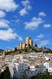 Stad met kasteel, Velez Blanco, Spanje stock afbeelding