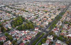 stad mexico Royaltyfria Foton