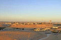Stad Mitzpe Ramon i den Negev öknen Arkivfoton