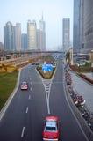 stad moderna shanghai Arkivbilder