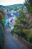 Stad Monschau i den norr Rhen - Westphalia östligt Royaltyfri Foto