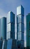 stad moscow för affärsmitt Arkivbild
