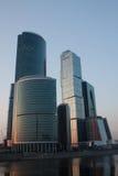 stad moscow för affärsmitt Arkivfoto