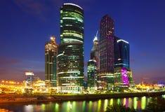 stad moscow för affärsmitt Royaltyfria Bilder