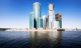 stad moscow för affärsmitt Arkivfoton