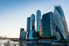 stad moscow för affärsmitt Royaltyfri Fotografi
