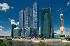 stad moscow russia för affärsmitt Arkivfoton