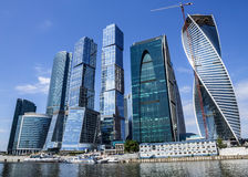 stad moscow russia för affärsmitt Royaltyfri Bild