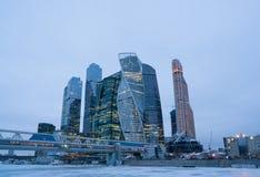 stad moscow russia international moscow för affärsmitt Royaltyfria Bilder