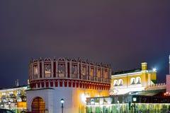 Stad Moskou Het Oriëntatiepunt van de Kutafyatoren, de Mooie plaatsen die toeristen fascineren royalty-vrije stock foto's