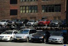 stad mycket nya parkerande york Fotografering för Bildbyråer