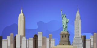stad New York vektor illustrationer