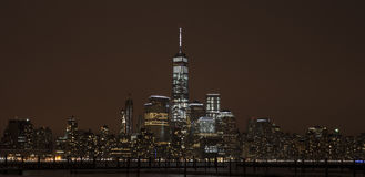 stad New York manhattan natt Arkivfoto