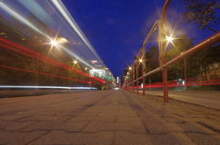 Stad nightlights Royalty-vrije Stock Foto's