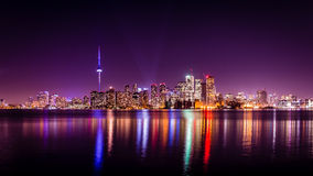Stad Nigth in Toronto Stock Afbeelding