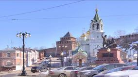 Stad Nizhniy Novgorod lager videofilmer