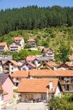 Stad Nova Varos in de bergen, Servië Royalty-vrije Stock Foto's